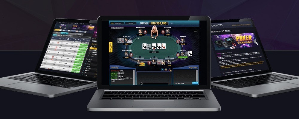 Experience the addicting online poker game of chance
